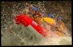 whitewater rafting action - Costa Rica